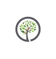 family tree symbol icon logo design template vector image vector image