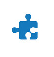 flat design of jigsaw puzzle piece vector image vector image