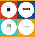 flat icon electronics set of receiver memory vector image vector image