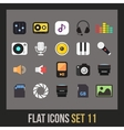 Flat icons set 11 vector image