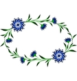 Frame with cornflowers in the shape of a circle vector image