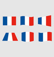 france flag official colors vector image vector image