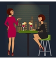 Friends celebrating in bar or night club vector image vector image