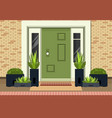 front entrance door vector image