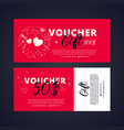gift voucher template with brigh telements vector image vector image