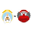 God vs Satan Good grandfather with white beard and vector image vector image