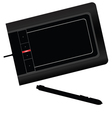 graphic tablet black vector image vector image