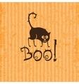 Halloween cat Boo vector image