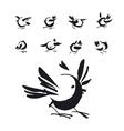 hand drawn birds set vector image vector image