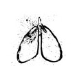 healthy lung and damage lung lungs disease icon vector image