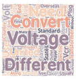 How to Select a Voltage Converter for Your Next vector image vector image