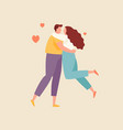 hugging couple in love vector image vector image