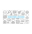 knowledge horizontal banner in outline vector image