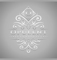 letter o logo - classic luxurious silver vector image vector image
