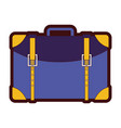 line color travel backpack journey tourist vector image vector image