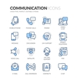 line communication icons vector image vector image