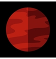 Mars planet sign vector image