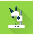 Microscope flat icon vector image vector image