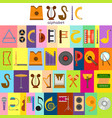 music alphabet font text symbols musical vector image