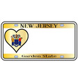 new jersey state license plate vector image vector image