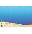 ocean floor seabed vector image vector image