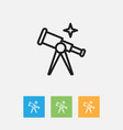 of science symbol on telescope vector image