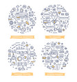 pay per click doodle vector image vector image