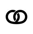 pretzel icon graphic elements for your design vector image