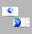 psychology visit card modern logo vector image vector image