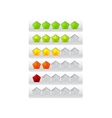 rating from color pentagons vector image vector image