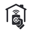 remote home icon vector image vector image