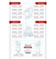 Restaurant vertical scetch menu vector image vector image