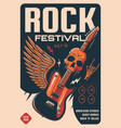rock festival heavy music poster vector image