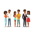 set cute african american vector image