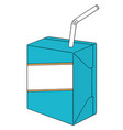 set of milk box vector image vector image