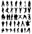 silhouette of people vector image