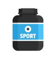sport nutrition plastic jar icon flat style