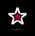 star with Japan flag colors and symbols without vector image vector image