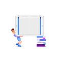 the concept of online library tiny characters and vector image