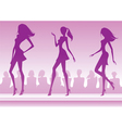 Three fashion models present a new collection vector image vector image