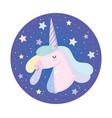 unicorn starry decoration fantasy magic cute vector image