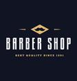 vintage barber shop logo labels badges and vector image vector image