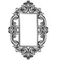 vintage baroque frame decor detailed ornament vector image vector image