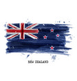 watercolor painting flag of new zealand vector image
