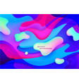 wavy abstract geometric liquid shapes vector image