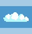 white cloud in blue sky pixel vector image