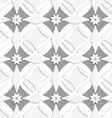 White ornament and gray crosses vector image vector image