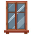 window with wooden border vector image vector image