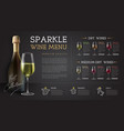 wine restaurant menu design with wine glass vector image