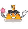 with ice cream dustpan character cartoon style vector image vector image